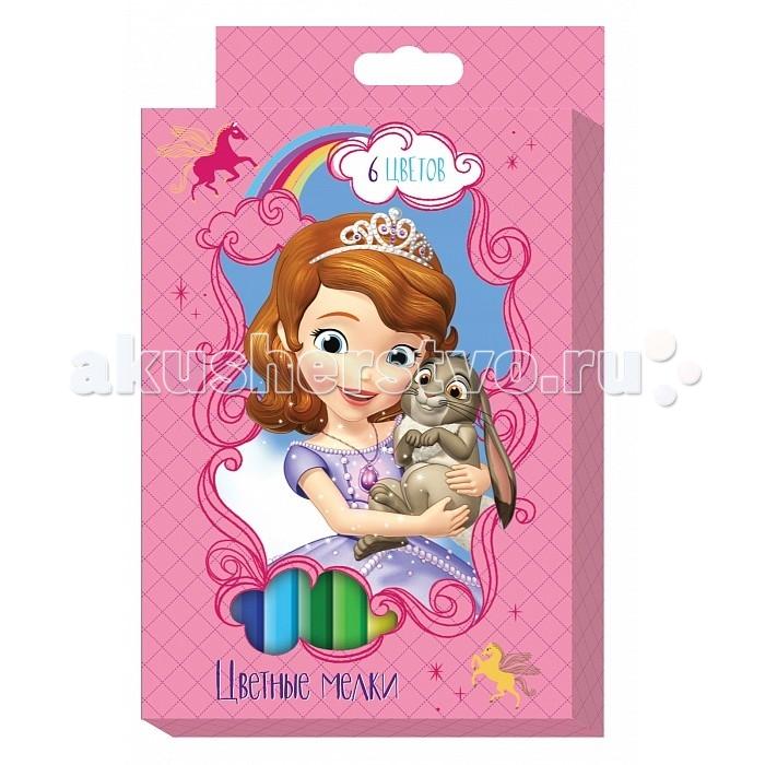 Мелки Росмэн цветные Disney София 6 цветов