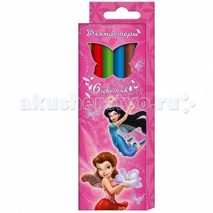 Фломастеры Росмэн Disney Феи 6 цветовDisney Феи 6 цветовРосмэн Фломастеры Disney Феи 6 цветов 29009   Фломастеры ТМ Disney «Феи», идеально подходящие для рисования и раскрашивания, помогут маленькой художнице создать яркие картинки, а упаковка с любимыми героями будет долгое время радовать малышку. В набор входит 6 разноцветных фломастеров с вентилируемыми колпачками, безопасными для детей. Диаметр корпуса: 0,8 см; длина: 13,5 см. Фломастеры изготовлены из материала, обеспечивающего прочность корпуса и препятствующего испарению чернил, благодаря этому они имеют гарантированно долгий срок службы: корпус не ломается, даже если согнуть фломастер пополам. Срок годности: 2 года.<br>