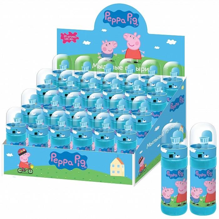 Peppa Pig Мыльные пузыри баскетбол 24 шт. 120 млМыльные пузыри баскетбол 24 шт. 120 млPeppa Pig Мыльные пузыри баскетбол 24 шт. 120 мл 30556   Мыльные пузыри, разлетающиеся в разные стороны, - это радость для всех детей. Так весело надувать переливающиеся на свету пузырьки, а потом бегать и ловить их! А в полнолуние, надувая большой пузырь, можно даже загадать свое заветное желание, которое обязательно исполнится! Кроме того, такая веселая игра развивает у ребенка легкие и дыхательную систему, что особенно полезно для его здоровья. Порадуйте своего малыша увлекательной игрой с мыльными пузырями!  В бутылочке «Peppa Pig» 120 мл мыльного раствора. Товар сертифицирован и безопасен при использовании по назначению.  Внимание! Цена указана за 1 шт.<br>