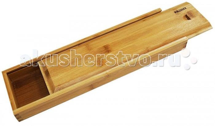 Малевичъ Пенал для кистей прямоугольныйПенал для кистей прямоугольныйНадежный, прочный и удобный пенал для кистей из бамбука. Прекрасно подойдет также для хранения карандашей, пастели, грифелей и др.<br>