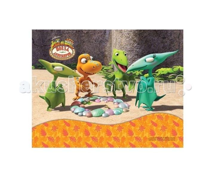 Action Подкладка на стол Поезд динозавровПодкладка на стол Поезд динозавровAction Подкладка на стол Поезд динозавров с заварным рисунком формата А4+ сохраняет стол от повреждений.<br>