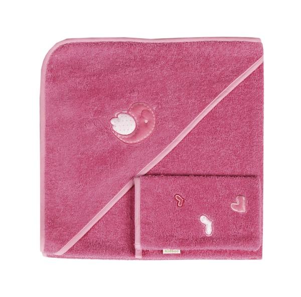 Полотенца Kidboo Комплект полотенце-уголок + варежка Sweet Birds