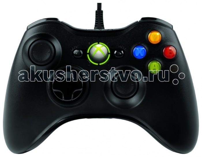 Microsoft X-Box 360 Джойстик проводной Xbox 360/PCX-Box 360 Джойстик проводной Xbox 360/PCController X-Box 360 - Официальный проводной контроллер корпорации Microsoft, разработанный для X-Box 360, с возможностью подключения к ПК. Длина кабеля 2.8 м.  Во всех комплектациях Xbox 360 присутствует всего один контроллер. Если же вы решили, к примеру, соревноваться в Project Gotham Racing 3 вместе с другом или хотите выяснить, кто достиг большего мастерства в Dead or Alive 4, приобритите дополнительный джойстик и откройте радость совместной игры на Xbox 360!  Используйте одновременно до четырех геймпадов с одной консолью Интегрированный порт для гарнитуры Регулируемая вибрационная обратная связь для продления времени работы аккумулятора<br>