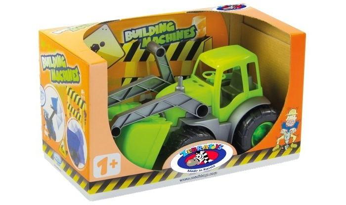 ZebraToys Трактор с ковшомТрактор с ковшомZebraToys Трактор с ковшом - мечта любого мальчишки! Ведь еuго можно катать, посадив в кабину подходящие по размеру игрушки.   Особенности: Большой трактор - незаменимый помощник в песочнице или в комнате, когда нужно собрать игрушки.  Функциональный ковш у трактора - опускается и поднимается.  Габаритные размеры: 34 X 17 X 20 см<br>