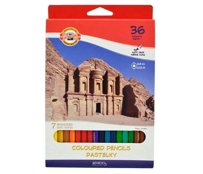 Koh-i-Noor Набор цветных карандашей 7 чудес света 36 цветов