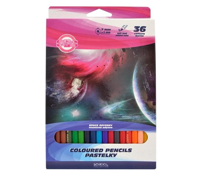 Koh-i-Noor Набор цветных карандашей Космос 36 цветов