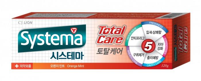 CJ Lion Зубная паста Systema для полной защиты с ароматом апельсина и мяты 120 г
