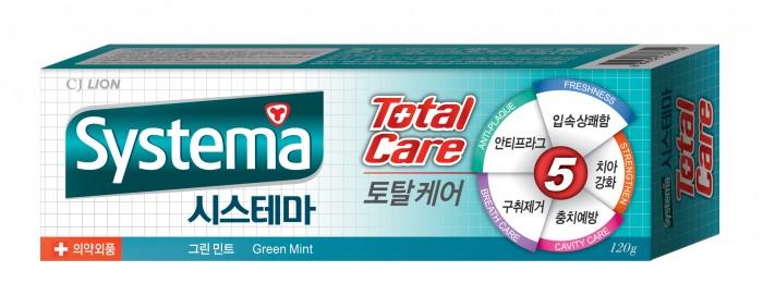 CJ Lion Зубная паста Systema для полной защиты с ароматом зеленой мяты 120 г