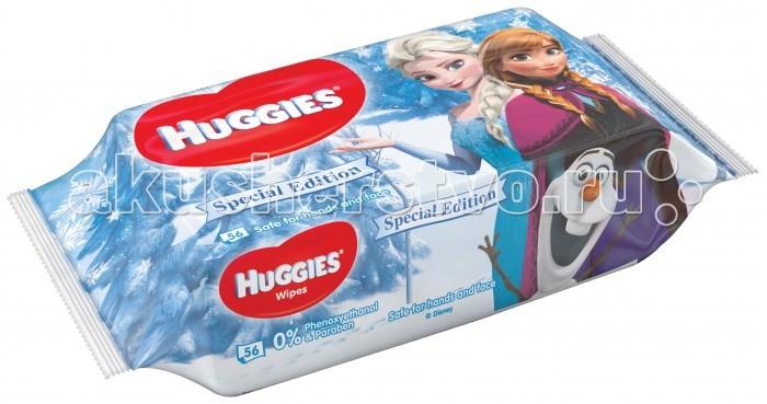 Huggies Детские влажные салфетки Рыбка Дори 56 шт