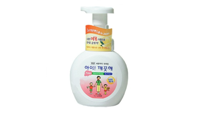CJ Lion Пенное мыло для рук Ai Kekute с ароматом лимона флакон-диспенсер 250 мл