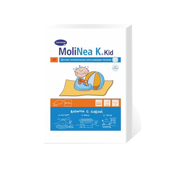 Hartmann Molinea K Гигиенические пеленки Возьми с собой 60х60 см 10 шт.