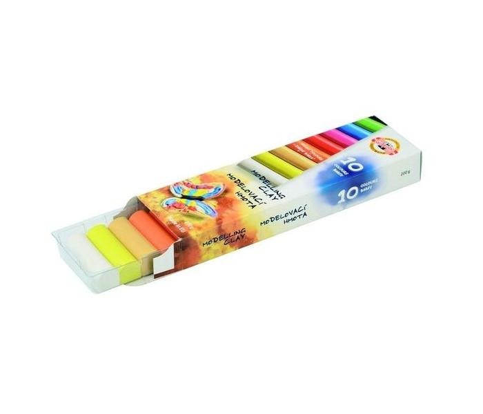 Koh-i-Noor Пластилин 10 цветов 200 гПластилин 10 цветов 200 гKoh-i-Noor Пластилин 10 цветов 200 г  Пластилин не прилипает к рукам, имеет яркие, сочные цвета, которые легко смешиваются друг с другом<br>