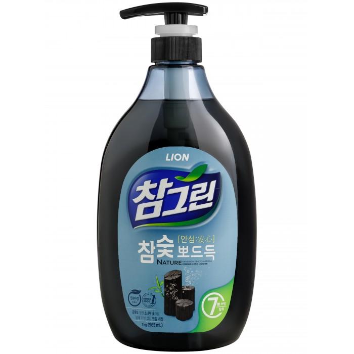 CJ Lion Средство для мытья посуды Chamgreen С древесным углем флакон-дозатор 1000 мл
