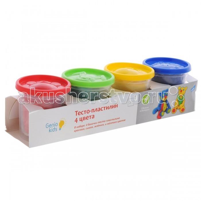 Genio Kids Тесто-Пластилин 4 цвета DM-TA1010