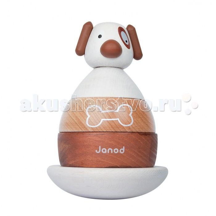Деревянная игрушка Janod пирамидка Собачка J08111пирамидка Собачка J08111Игрушка-пирамидка Собачка - отличный выбор для самых маленьких. Французский производитель Janod позаботился о том, что бы сделать эту игрушку максимально привлекательной и безопасной для малышей. Игрушка выполнена из натуральной экологически чистой древесины и окрашена безвредными красками на водной основе.   Эта игрушка многофункциональна. Яркая и забавная фигурка разбираются на составные части и ребенку придется приложить усилие, что бы собрать их в том же порядке. Платформа качается и поэтому ребенок получает представление о равновесии, а еще их можно считать.   Игрушка упакована в подарочная коробку.  Особенности игрушки:  - подвижная деревянная платформа с деревянным штырем -3 деревянных блока - 3 мягких детали из текстиля - подарочная коробка.  Размер игрушки (ШхГхВ): 11.8 х 9 х 13.5 см Размер упаковки (ШхГхВ): 11.8 х 11.8 х 18.2 см Вес: 580 г<br>