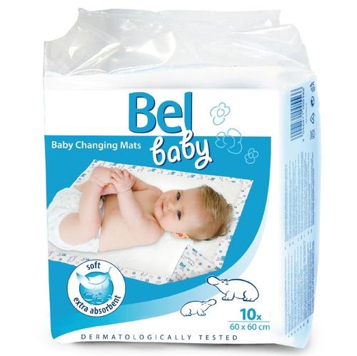 Hartmann Bel Baby Changing Mats Впитывающие пеленки 60х60 см 10 шт.Bel Baby Changing Mats Впитывающие пеленки 60х60 см 10 шт.Детские впитывающие пеленки Hartmann Bel Baby Changing Mats используются для дополнительной защиты постельного белья, обеспечивая максимальную степень впитываемости.  Рекомендуются для прогулок, поездок, походов в гости, использования при посещении детских учреждений, домашнего применения, а также при смене подгузников и проведении гигиенических процедур.  За счет того, что внутренний слой из распушенной целлюлозы пеленка быстро впитывает влагу. Надежную защиту от протекания также обеспечивает непромокаемый внешний слой пеленки. Подходят для чувствительной детской кожи. На поверхности пеленки имеются изображения забавных бегемотиков. Дерматологически протестировано.   Состав: гипоаллергенного нетканого материала, нескользящий нижний полиэтиленовый слой Размер пеленки: 60 x 60 см Количество: 10 шт.<br>