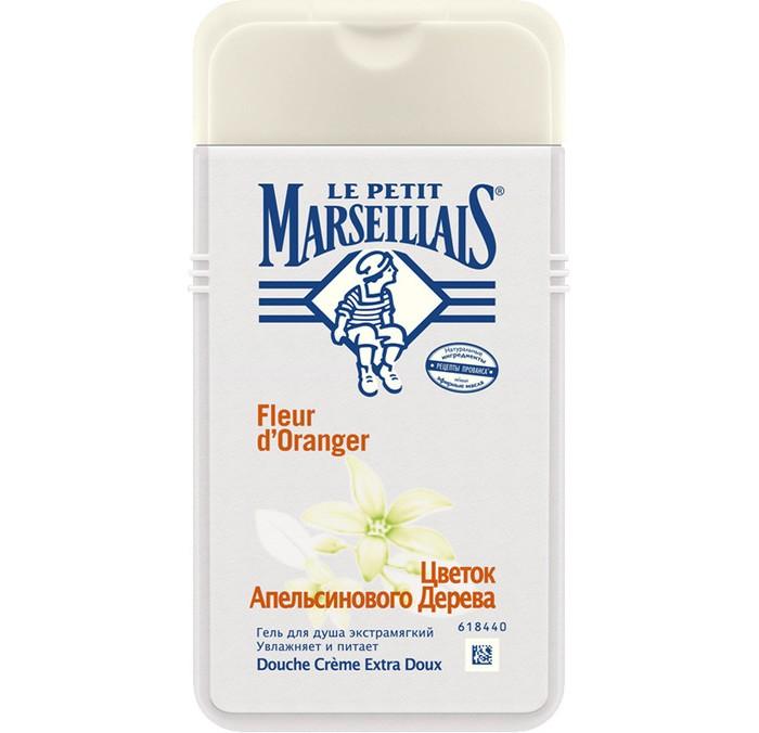 Le Petit Marseillais Гель для душа Цветок апельсинового дерева 250 млГель для душа Цветок апельсинового дерева 250 млГель для душа Цветок апельсинового дерева увлажняет и питает кожу.   Цветок апельсинового дерева известен своими расслабляющими и успокаивающими свойствами, дарит ощущение свежести и богат богат витамином C.   Густой и в то же время легко смывающийся гель, образует мягкую и нежную душистую пену с изысканным и расслабляющим ароматом.<br>