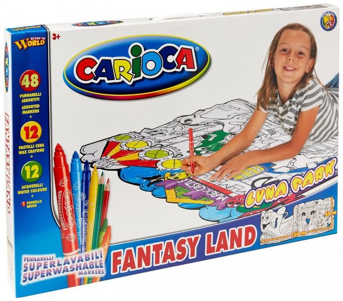 Carioca Набор для рисования LUNA PARK 73 предметаНабор для рисования LUNA PARK 73 предметаНабор для рисования LUNA PARK 73 предмета - прекрасный набор для творчества, который обязательно понравится юным художникам. Набор может стать отличным подарком на детский праздник.  В наборе:  2 трафарета для раскрашивания размером 60х160 см 48 смываемых фломастеров 12 восковых карандашей 12 акварельных красок кисточка<br>