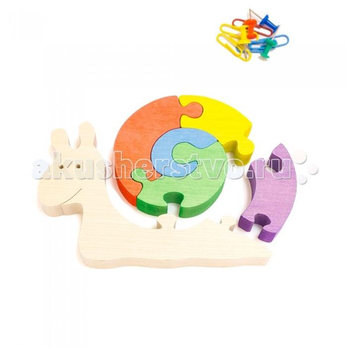 Деревянная игрушка Деревяшкино Веселая улитка в коробкеВеселая улитка в коробкеРазвивающая деревянная головоломка Веселая улитка в коробке (средней степени сложности) подходит для мальчиков и девочек в возрасте 3-5 лет, состоит из 9 деталей. Экологически чистый продукт: изготовлено вручную из массива березы.   Игрушка раскрашена пищевой водостойкой краской, что делает взаимодействие с изделием абсолютно безопасным: никаких лаков, «химии» или добавок.  Процесс сборки деревянной головоломки развивает: тактильную сенсорику, внимательность, усидчивость, пространственное мышление, мелкую моторику, а так же учит различать элементы по цвету, форме и размеру.   С продукцией компании Деревяшкино, Ваши детки развиваются, играя без риска для здоровья.<br>