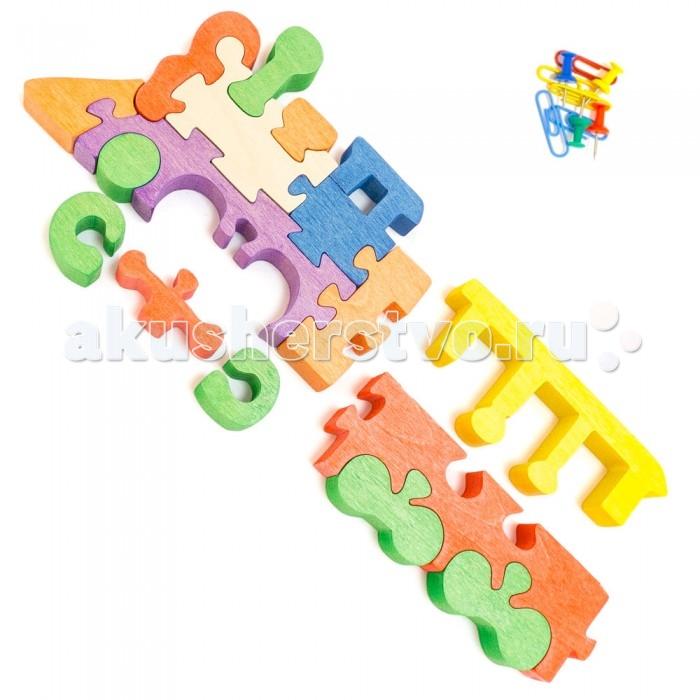 Деревянная игрушка Деревяшкино Паровозик в коробкеПаровозик в коробкеРазвивающая деревянная головоломка Паровозик (средней степени сложности) подходит для мальчиков и девочек в возрасте 3-5 лет, состоит из 16 деталей. Экологически чистый продукт: изготовлено вручную из массива березы.   Игрушка раскрашена пищевой водостойкой краской, что делает взаимодействие с изделием абсолютно безопасным: никаких лаков, «химии» или добавок.  Процесс сборки деревянной головоломки развивает: тактильную сенсорику, внимательность, усидчивость, пространственное мышление, мелкую моторику, а так же учит различать элементы по цвету, форме и размеру.   С продукцией компании Деревяшкино, Ваши детки развиваются, играя без риска для здоровья.<br>