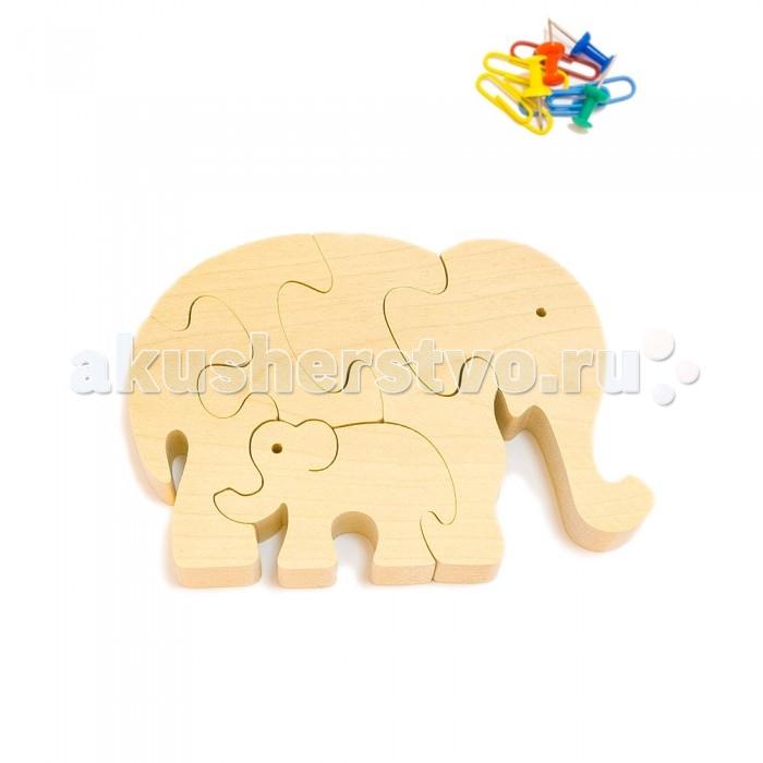 Деревянная игрушка Деревяшкино Два слона (НТ)Два слона (НТ)Развивающая деревянная головоломка Два слона (средней степени сложности) подходит для мальчиков и девочек в возрасте 3-5 лет, состоит из 5 деталей.   Экологически чистый продукт: изготовлено вручную из массива березы. Набор полезен для развития мышления, усидчивости, творческих и умственных способностей ребенка.   В комплект входят акриловые краски 6 цветов, кисточка и образец-вкладыш для примера сборки и раскраски. Ваш малыш сможет раскрасить головоломку, как указано на образце или в любой другой цвет. Можно так же обклеить игрушку бисером, бумагой, пластилином.   Натуральные игрушки компании Деревяшкино помогут Вашему ребенку создать свой собственный сказочный мир и окунуться в удивительное царство фантазий!<br>