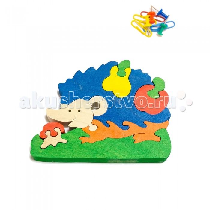 Деревянная игрушка Деревяшкино Ежик с грушей (НТ)Ежик с грушей (НТ)Развивающая деревянная головоломка Ёжик с грушей (средней степени сложности) подходит для мальчиков и девочек в возрасте 3-5лет, состоит из 10 деталей.   Экологически чистый продукт: изготовлено вручную из массива березы.   Набор полезен для развития мышления, усидчивости, творческих и умственных способностей ребенка.   В комплект входят акриловые краски 6 цветов, кисточка и образец-вкладыш для примера сборки и раскраски. Ваш малыш сможет раскрасить головоломку, как указано на образце или в любой другой цвет. Можно так же обклеить игрушку бисером, бумагой, пластилином.   Натуральные игрушки компании Деревяшкино помогут Вашему ребенку создать свой собственный сказочный мир и окунуться в удивительное царство фантазий!<br>