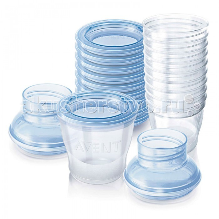 Контейнеры Philips-Avent Набор контейнеров для хранения молока SCF612/10