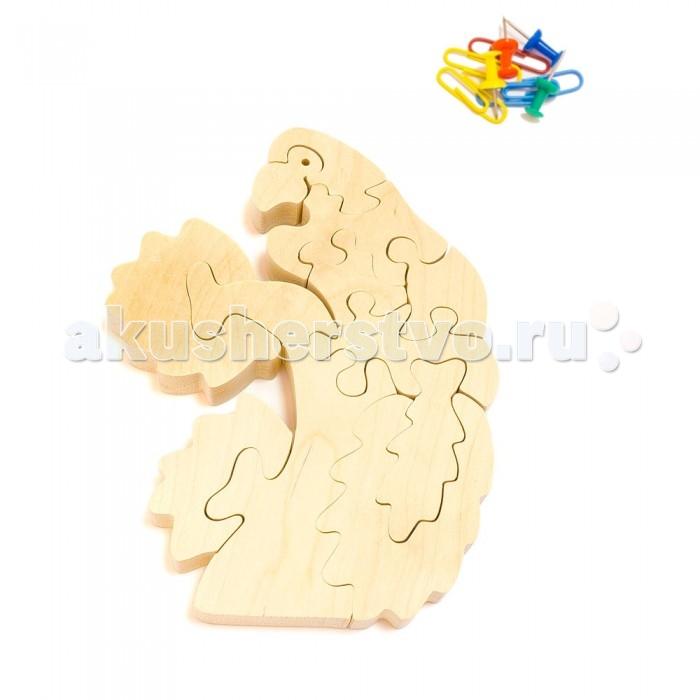 Деревянная игрушка Деревяшкино Попугай на ветке (НТ)Попугай на ветке (НТ)Развивающая деревянная головоломка Попугай на ветке (средней степени сложности) подходит для мальчиков и девочек в возрасте 3-5 лет, состоит из 11 деталей.  Экологически чистый продукт: изготовлено вручную из массива березы. Набор полезен для развития мышления, усидчивости, творческих и умственных способностей ребенка.   В комплект входят акриловые краски 6 цветов, кисточка и образец-вкладыш для примера сборки и раскраски. Ваш малыш сможет раскрасить головоломку, как указано на образце или в любой другой цвет. Можно так же обклеить игрушку бисером, бумагой, пластилином.   Натуральные игрушки компании Деревяшкино помогут Вашему ребенку создать свой собственный сказочный мир и окунуться в удивительное царство фантазий!<br>