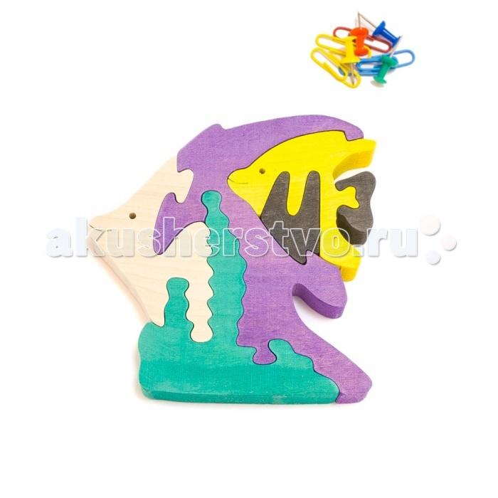 Деревянная игрушка Деревяшкино Рыбки (НТ)Рыбки (НТ)Развивающая деревянная головоломка Рыбки (средней степени сложности) подходит для мальчиков и девочек в возрасте 3-5 лет, состоит из 6 деталей.   Экологически чистый продукт: изготовлено вручную из массива березы.   Набор полезен для развития мышления, усидчивости, творческих и умственных способностей ребенка.   В комплект входят акриловые краски 6 цветов, кисточка и образец-вкладыш для примера сборки и раскраски. Ваш малыш сможет раскрасить головоломку, как указано на образце или в любой другой цвет. Можно так же обклеиить игрушку бисером, бумагой, пластилином.   Натуральные игрушки компании Деревяшкино помогут Вашему ребенку создать свой собственный сказочный мир и окунуться в удивительное царство фантазий!<br>