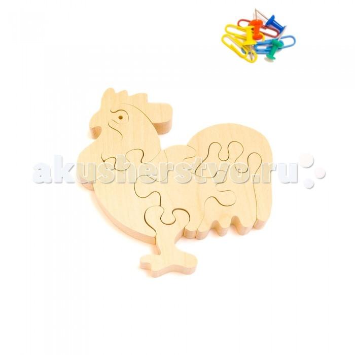 Деревянная игрушка Деревяшкино Петушок 3 (НТ)Петушок 3 (НТ)Развивающая деревянная головоломка Петушок 3 (средней степени сложности) подходит для мальчиков и девочек в возрасте 3-5 лет, состоит из 7 деталей.   Экологически чистый продукт: изготовлено вручную из массива березы. Набор полезен для развития мышления, усидчивости, творческих и умственных способностей ребенка.   В комплект входят акриловые краски 6 цветов, кисточка и образец-вкладыш для примера сборки и раскраски. Ваш малыш сможет раскрасить головоломку, как указано на образце или в любой другой цвет. Можно так же обклеить игрушку бисером, бумагой, пластилином.   Натуральные игрушки компании Деревяшкино помогут Вашему ребенку создать свой собственный сказочный мир и окунуться в удивительное царство фантазий!<br>