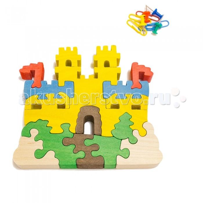 Деревянная игрушка Деревяшкино Замок с башнями (НТ)Замок с башнями (НТ)Развивающая деревянная головоломка Замок с башнями (средней степени сложности) подходит для мальчиков и девочек в возрасте 3-5 лет, состоит из 12 деталей.   Экологически чистый продукт: изготовлено вручную из массива березы.   Набор полезен для развития мышления, усидчивости, творческих и умственных способностей ребенка. В комплект входят акриловые краски 6 цветов, кисточка и образец-вкладыш для примера сборки и раскраски. Ваш малыш сможет раскрасить головоломку, как указано на образце или в любой другой цвет. Можно так же обклеить игрушку бисером, бумагой, пластилином.   Натуральные игрушки компании Деревяшкино помогут Вашему ребенку создать свой собственный сказочный мир и окунуться в удивительное царство фантазий!<br>