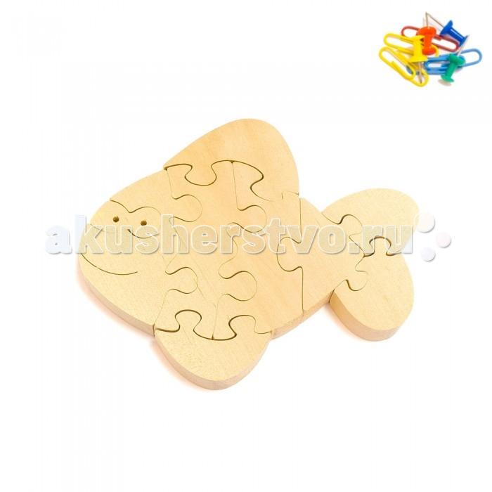 Деревянная игрушка Деревяшкино Веселый карасик (НТ)Веселый карасик (НТ)Развивающая деревянная головоломка Веселый карасик (средней степени сложности) подходит для мальчиков и девочек в возрасте 3-5 лет, состоит из 9 деталей.   Экологически чистый продукт: изготовлено вручную из массива березы. Набор полезен для развития мышления, усидчивости, творческих и умственных способностей ребенка.   В комплект входят акриловые краски 6 цветов, кисточка и образец-вкладыш для примера сборки и раскраски. Ваш малыш сможет раскрасить головоломку, как указано на образце или в любой другой цвет. Можно так же обклеить игрушку бисером, бумагой, пластилином.   Натуральные игрушки компании Деревяшкино помогут Вашему ребенку создать свой собственный сказочный мир и окунуться в удивительное царство фантазий!<br>