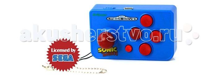Sega Игровая консоль Genesis Nano Sonic 10 игрИгровая консоль Genesis Nano Sonic 10 игрИгровая консоль Sega Nano - это новый уникальный продукт на рынке не имеющий аналогов. Консоль выполнена в виде небольшого брелока, который можно повестить на ключи или на задний карман рюкзака. Сама консоль внешне похожа на небольших размеров джойстик (шутка ли, джойстики Sega Fire Joy по размеру больше, чем эта приставка), выполненный в ярком фирменном цвете Соника с соответствующей надписью: Sonic The Hedgehog.  В память игровой консоли записано 10 игр (из них четыре - про легендарного ежа Соника) и 52 игровых уровня на выбор: прошли один уровень и больше не хотите к нему возвращаться? Запускайте следующий уровень и продолжайте играть!  Список встроенных игр: Sonic The Hedgehog Sonic The Hedgehog 2 Sonic The Spinball Sonic 3D Blast Alex Kidd Air Hockey Naval Power Cannon Fight or Lose Checker  Работает приставка через AV-кабель на одной батарейке формата ААА большее 5 часов игрового времени! Для особо любознательных маленьких техников предусмотрен винт безопасности, предотвращающий разбор приставки.  Игровая приставка Sega Nano - прекрасный недорогой подарок, который придется по душе как детям, так и взрослым: ведь для того, чтобы поиграть в яркие красочные игры теперь не придется носить с собой большую приставку - достаточно взять миниатюрную Nano, которая с легкостью помещается на ладонь ребенка. Это позволяет ей носить полноправное звание Самой Маленькой Сеги в Мире.<br>