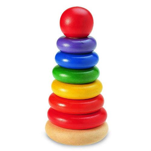 Деревянные игрушки Wonderworld пирамидка Неваляшка