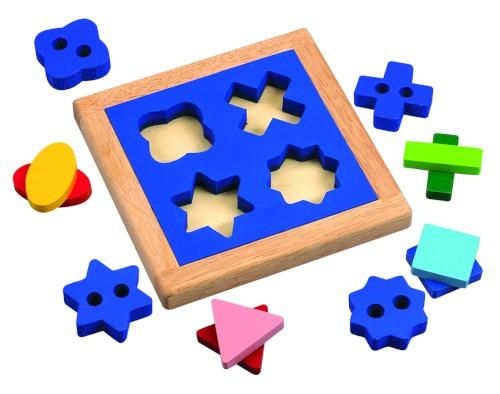 Деревянные игрушки Wonderworld Геометрический пазл-сортер