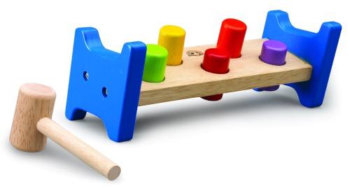 Деревянные игрушки Wonderworld Игра Скамейка с молотком