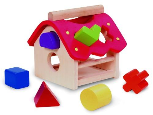 Деревянные игрушки Wonderworld Сортер Домик
