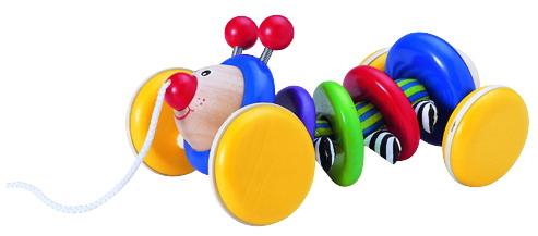Деревянные игрушки Wonderworld Каталка Жук