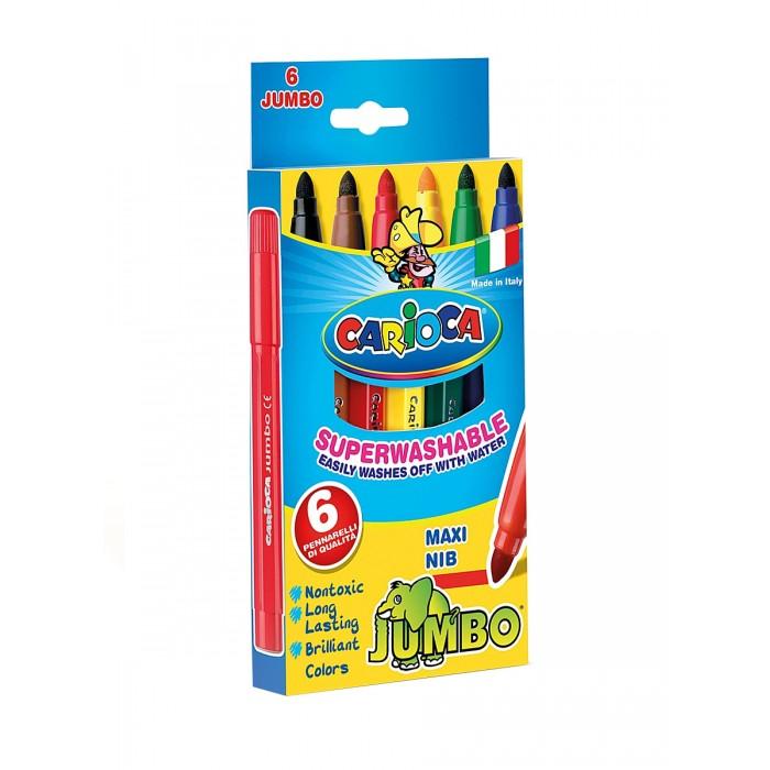 Фломастеры Carioca JUMBO 6 цветов в картонной коробкеJUMBO 6 цветов в картонной коробкеНабор фломастеров Carioca JUMBO 6 цветов в картонной коробке обязательно понравится юным художникам. Фломастеры имеют утолщенный корпус, поэтому их удобно будет держать маленькой ручке. Чернила на водной основе, которые легко смываются с рук и большинства тканей. Стержень не вдавливается.<br>