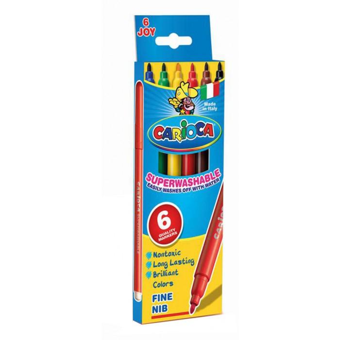 Фломастеры Carioca JOY 6 цветов в картонной коробкеJOY 6 цветов в картонной коробкеНабор фломастеров CARIOCA JOY 6 цветов в картонной коробке обязательно порадует юных художников. Фломастеры нетоксичны. Пишущий узел из нейлона высокого качества диаметром 2 мм.<br>