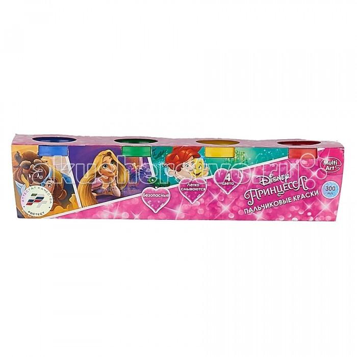 Multiart Пальчиковые краски Принцессы Disney 4 цвета