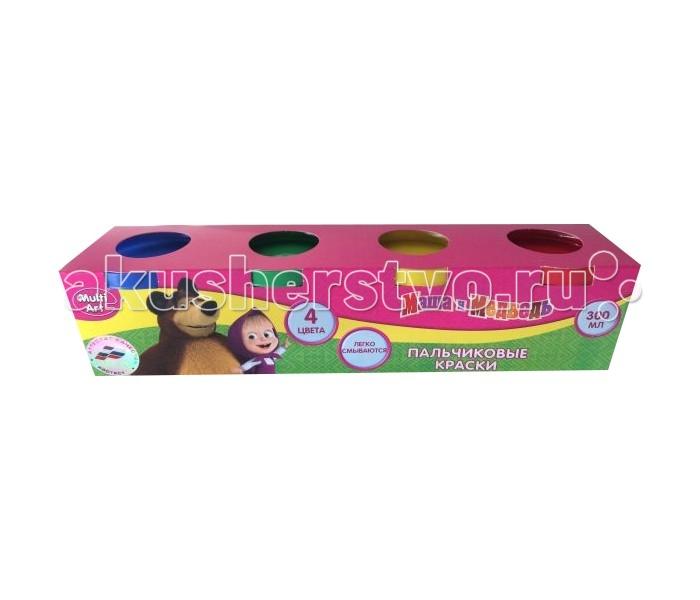 Multiart Пальчиковые краски Маша и Медведь 4 цвета