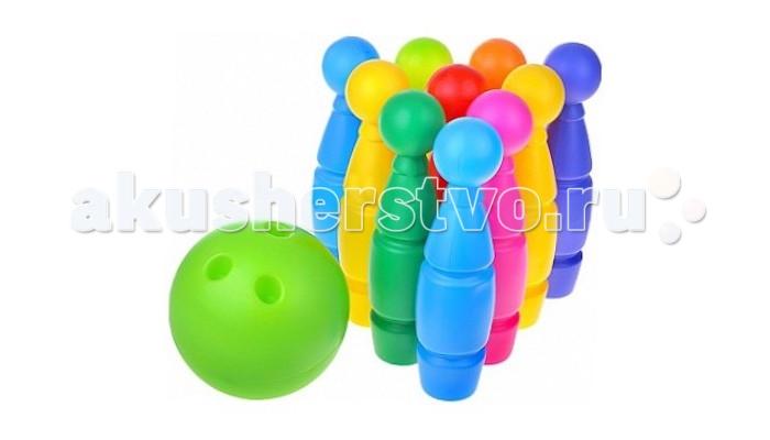 Mej-pol Боулинг maxБоулинг maxБоулинг max  Спортивная игра-соревнование. Цель играющих - сбить шаром кегли, расставленные в определенном порядке. За каждую сбитую кеглю начисляются очки. Победившим считается тот, кто наберет наибольшее число очков.   Игра развивает ловкость, координацию движений, глазомер. Комплектность: 9 кеглей, 1 мячик. Изготовлено из высококачественной пластмассы<br>