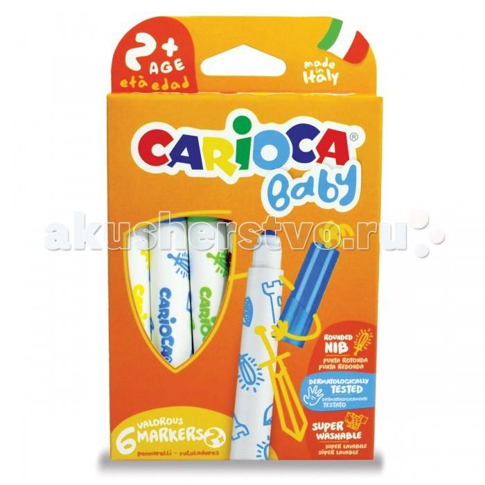 Фломастеры Carioca суперсмываемые 6 цветов