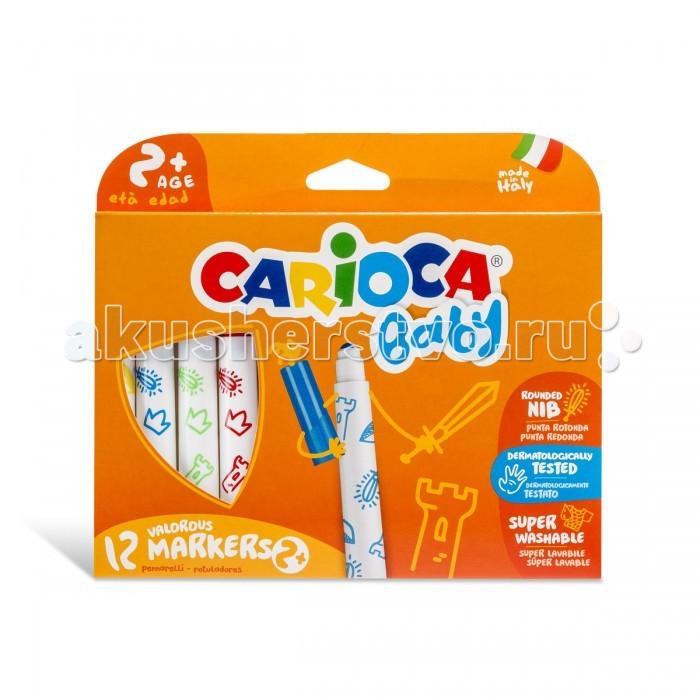 Фломастеры Carioca суперсмываемые 12 цветов