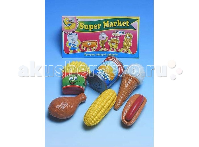 Mrowiec Toys Супермаркет в пакете с кукурузойСупермаркет в пакете с кукурузойСупермаркет в пакете с кукурузой   Все девочки любят играть в магазин это великолепный набор позволит ребенку выбирать продукты как в настоящем магазине<br>
