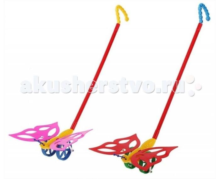 Каталка-игрушка Wieslaw Suchanek Бабочка без шариковБабочка без шариковКаталка Бабочка без шариков  Игрушка-каталка с ручкой для детей 1-3 лет. Развивает наглядно-действенное мышление, координацию движений, стимулирует двигательную активность.   Для малышей, начинающих ходить, каталка - незаменимый помощник в этом нелегком деле. Приведенная в движение каталка-бабочка машет крыльями.  Цвет в ассортименте.<br>