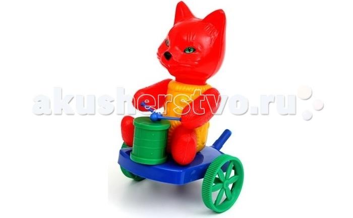 Каталка-игрушка Wieslaw Suchanek Кот с барабаномКот с барабаномКаталка Кот с барабаном  Игрушка-каталка с ручкой для детей 1-3 лет. Развивает наглядно-действенное мышление, координацию движений, стимулирует двигательную активность.   Для малышей, начинающих ходить, каталка - незаменимый помощник в этом нелегком деле. Приведенная в движение каталка-бабочка машет крыльями.  Предназначение: для игровых целей на открытом воздухе и в помещении. Изготовлено из высококачественной пластмассы.<br>