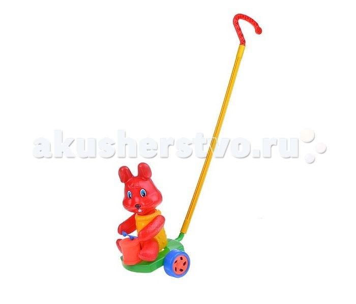 Каталка-игрушка Wieslaw Suchanek Кролик с барабаномКролик с барабаномКаталка Кролик с барабаном  Игрушка-каталка с ручкой для детей 1-3 лет. Развивает наглядно-действенное мышление, координацию движений, стимулирует двигательную активность.   Для малышей, начинающих ходить, каталка - незаменимый помощник в этом нелегком деле. Приведенная в движение каталка-бабочка машет крыльями.  Предназначение: для игровых целей на открытом воздухе и в помещении. Изготовлено из высококачественной пластмассы.<br>