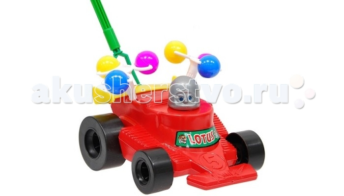 Каталка-игрушка Wieslaw Suchanek машина гоночная с шарикамимашина гоночная с шарикамиКаталка машина гоночная с шариками  Игрушка-каталка с ручкой для детей 1-3 лет. Развивает наглядно-действенное мышление, координацию движений, стимулирует двигательную активность.   Для малышей, начинающих ходить, каталка - незаменимый помощник в этом нелегком деле. Приведенная в движение каталка-бабочка машет крыльями.  Предназначение: для игровых целей на открытом воздухе и в помещении. Изготовлено из высококачественной пластмассы.<br>